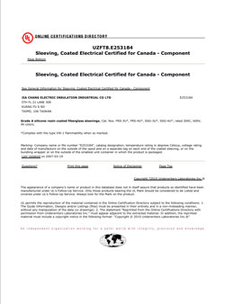 Sleeving, Coated Electrical Certified for Canada - Component